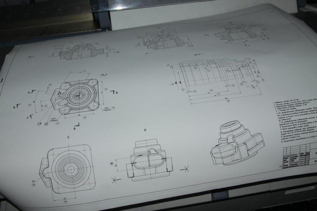 Печать чертежей А3 А1 А0 в Борисове и Жодино
